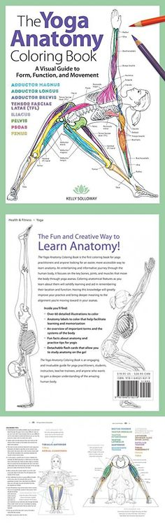 The Yoga Anatomy Coloring Book: A Visual Guide to Form, Function, and Movement Anatomy Coloring Book, Coloring Books, Yoga Anatomy, Yoga Books, Learning, Fun, Vintage Coloring Books, Fin Fun, Study