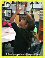 Puddle Investigation- great info for kindergarten standards plus ideas