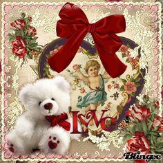 Victorian Valentine Teddy Bear