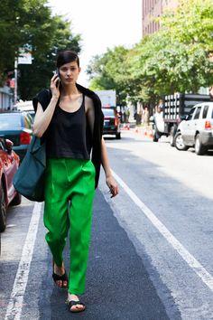 NYFW Street Style Photos - Spring 2015 New York Fashion Week Street Style Pictures - Elle