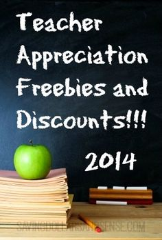 Teacher Appreciation Freebies and Discounts!