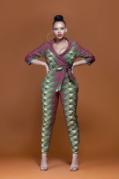 African Print Shun Jumpsuit| Grass-Fields|Bold, Daring & Colorful
