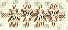 Bordado yugoslavo Swedish Weaving Patterns, Monks Cloth, Weaving Designs, Bargello, Darning, Clothing Patterns, Fiber Art, Needlework, Arts And Crafts