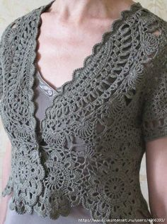 Grey Lace Bolero Pattern