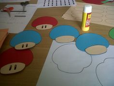 Nintendo Super Mario Mushrooms for bulletin board and classroom door decoration ideas