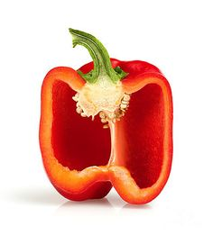 Johan Swanepoel - Cross section pepper Vegetables Photography, Fruit Photography, Fruit And Veg, Fruits And Vegetables, Veggies, Stuffed Mini Peppers, Simple Line Drawings, Still Life Fruit, Watercolor Fruit