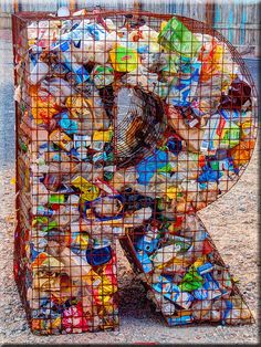 Art from waste by Ostseetroll, via Flickr -interesting concept