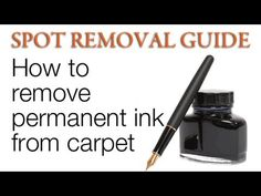 Need tips and advices on how to remove ink spots on your carpet? This handy guide will show you how to! Welcome to the Spot Removal Guide provided by COIT Cleaning Services. Deep Cleaning Tips, House Cleaning Tips, Cleaning Solutions, Cleaning Hacks, Laundry Solutions, Laundry Tips, Laundry Rooms, Cleaning Products, Ink Stain Removal