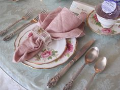 Table setting for tea.