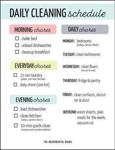 This printable cleaning schedule for working moms will give you a checklist for what you need to clean daily, weekly to keep your home clean so you can enjoy your kids! schedule printable Simple Printable Cleaning Schedule For Working Moms Toilet Cleaning, Deep Cleaning, Cleaning Hacks, House Cleaning Checklist, Clean House Schedule, Working Mom Schedule, Weekly Cleaning Schedule Printable, Daily Schedule For Moms, Weekly Chore List