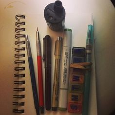 These are my favorite tools for daily practice and loose illustrations.