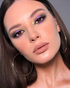 cute makeup makeup for brown eyes tutorial This mauve eye makeup is cute Dieses lila Augenmake-up ist niedlich 80s Eye Makeup, Purple Eye Makeup, Makeup Eye Looks, Makeup For Brown Eyes, Cute Makeup, Glam Makeup, Simple Makeup, Skin Makeup, Eyeshadow Makeup