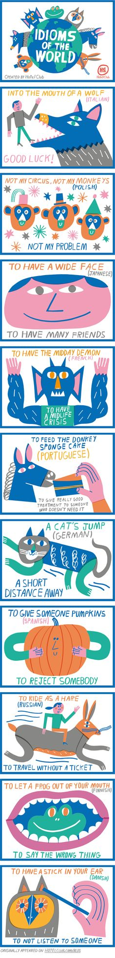 Idioms of the World, via @teawashere_.We love these illustrations!