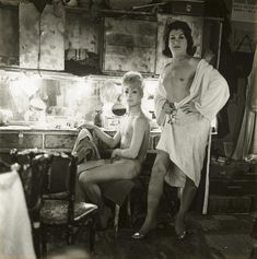 Diane Arbus, Two Female Impersonators at a Dressing Table, NYC, 1962