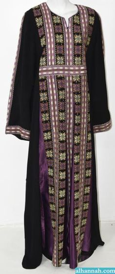 320354ff83 Yasmin Embroidered Palestinian Fellaha Thobe - th767 - AlHannah.com  Palestinian Embroidery