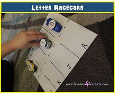 Letter Racecars