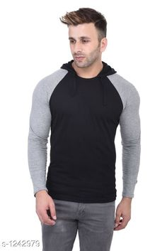 Sweatshirts Trendy Cotton Hooded T-Shirt  *Fabric* Cotton  *Sleeves* Sleeves Are Included  *Size* S, M, L, XL (Refer The Size Chart )  *Length* (Refer The Size Chart )  *Type* Stitched  *Description* It Has 1 Piece Of Men's Hooded T-Shirt  *Work * Printed  *Sizes Available* S, M, L, XL *   Catalog Rating: ★4.1 (1047)  Catalog Name: Men's Stylish Cotton Solid Hooded T-Shirts Vol 3 CatalogID_157048 C70-SC1207 Code: 452-1242979-