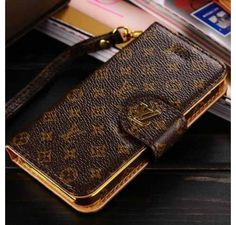 New Celebrities Style Fashion Real Louis Vuitton iPhone 6 Cases - iPhone 6 Plus Cases - LV Designer Wallet Monogram Brown - Free Shipping - Chanel & Louis Vuitton Authorized Store