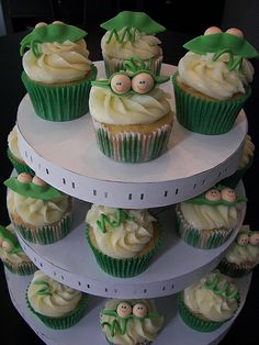 Two Peas in Pod Cupcakes