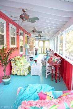 colorful porch | Jane Coslick