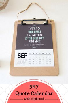 Quotes 2018 Calendar Awesome 2018 Quote Calendar Size 4X6Each Month Is A Inspirational Quote