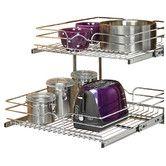 """2016 Found it at Wayfair Supply - 21"""" x 22""""  2 Tier Wire Basket Cabinet Organizer Rack"""