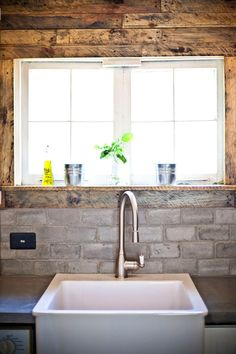 this concrete subway tile is a rustic twist on a timeless classic.