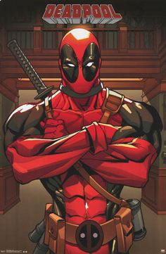 Deadpool Anti-Hero Marvel Comics Poster 22x34 – BananaRoad