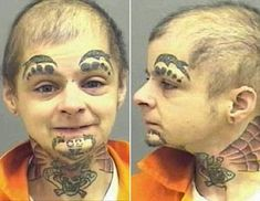 Bad Tattoo: #107: And Mugshot!: A Reject from Clown College...