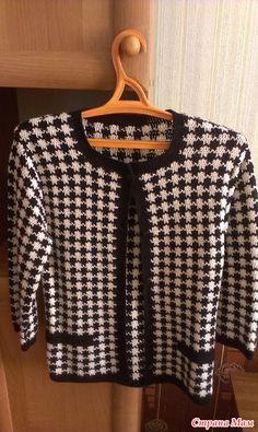 Chanel stílusú kötött kabát mintával