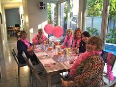 Ladies in Leis at Lesley's Breakfast