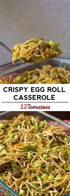 Crispy Egg Roll Casserole