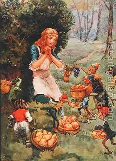 """Goblin Market - Artist Frank Adams --Written by Christina Rossetti - A Fairy Tale From England (1862)"