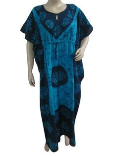 Lounge Wear Kaftans Blue Batik Print Kimono Sleeves Caftan House Dress Mogul Interior,http://www.amazon.com/dp/B00CWY98WI/ref=cm_sw_r_pi_dp_HM6Mrb9A7AA040A9