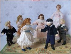 1/12 Dollhouse dolls by Béatrice THIERUS/ Artisan Dollhouse Miniature Porcelain Doll - béatrice thiérus - Picasa Web Albums