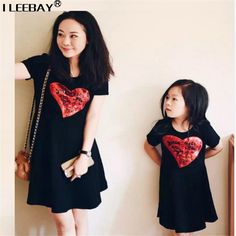 >> Click to Buy << Mother Daughter Dresses Family Clothing Matching Mum Girl Dress Family Look Sequins Dress Roupa Mae e Filha Rapa Mama e Hija #Affiliate
