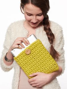 Patron para hacer una funda para tablet a crochet
