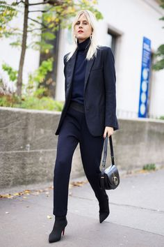 20 All-Black Work Outfits to Copy Now via @WhoWhatWearUK