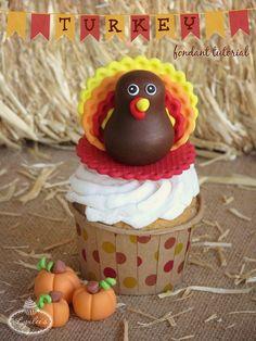 Thanksgiving turkey fondant tutorial