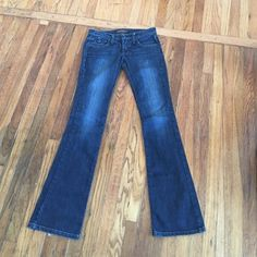 Used FrankieB Jeans Used FrankieB jeans, dark blue wash!  in great condition, you can dress them up or keep it casual with these jeans that's what I love about them! Worn about 5-10 times Frankie B. Jeans Boot Cut