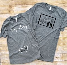 Pregnancy Reveal shirts, Couples pregnancy Announcement shirts, Daddy to be Shirt, Couples shirt, Mommy to Be Shirt, Mom to Be, Expecting by SimpleCharmStudio on Etsy (null)