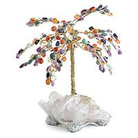 Gemstone tree, 'Crystal Carnival' (large) by NOVICA