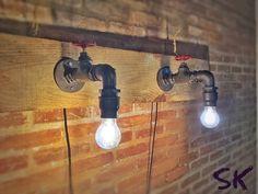 Lustre Torneira de parede estilo Industrial