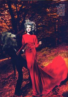 Into the Woods | Natalia Vodianova by Mert & Marcus for Vogue US September