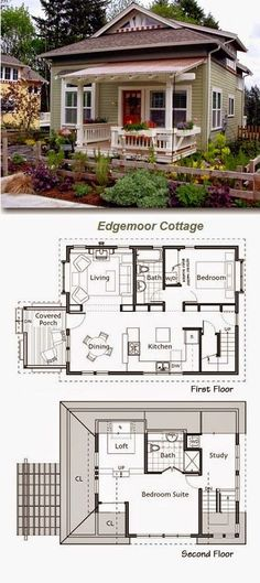 Cute house, like the floor plan. I love this floor plan. This is in my top 5 for my future tiny home Living Haus, Tiny House Living, Small Living, Tiny House Family, Living Room, Cute House, Cabins And Cottages, Small Cottages, Small Cottage Homes