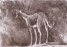Custom Charcoal drawing dog drawing dog wall by JimGriffithsArt