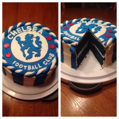 Challenging my mother with this for my birthday! Blue Velvet Chelsea FC Cake