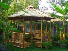 Bamboo Garden Gazebo Design ~ http://lanewstalk.com/tips-for-buying-wood-garden-gazebos/