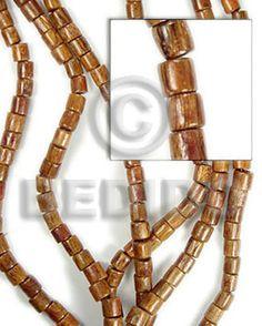 Native Bayong Barrel Wood 6x6 Wholesale Tube & Heishe Wood Beads