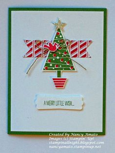 Stampin' All Night   Nancy Amato Festival of Trees card